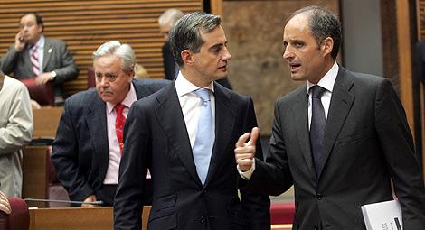 Ricardo Costa y Francisco Camps, en las Cortes Valencianas. | Vicent Bosch