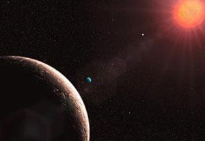 Recreación artística el planeta 'Gliese 481e'. | ESO