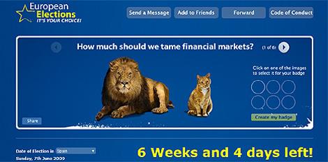 Imagen de la página de Myspace del Parlamento Europeo. [www.myspace.com/europeanparliament]