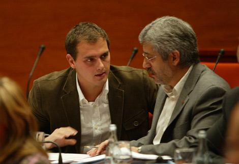 Robles y Rivera, en el Parlament. | Domènec Umbert