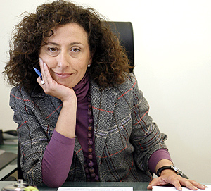 Nieves Huertas en su despacho | Fotos: S. Enríquez