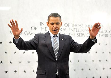 El presidente de EEUU, Barack Obama, se dirige a empleados de la CIA en McLean, Virginia. | Efe