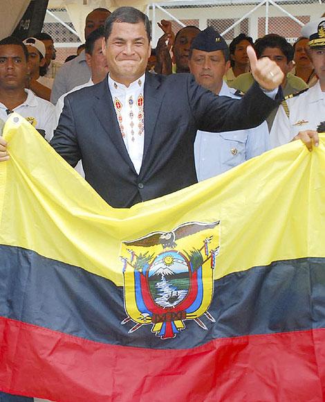Rafael Correa, tras conocer los resultados de las elecciones.   Reuters