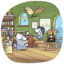 El protagonista con Da Vinci. | Jvlivs.