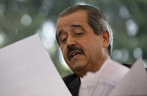 José Ángel Córdova, durante la rueda de prensa. | AP
