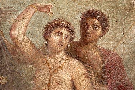 'Marte y Zeus', uno de los frescos de la muestra. | EFE