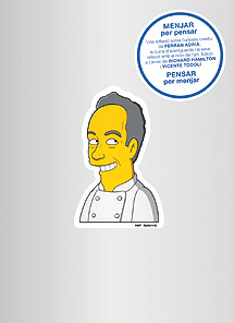 Caricatura del cocinero catalán realizada por Matt Groening.   Ed.Akal
