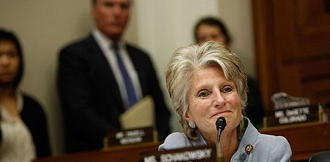 La congresista Harman, que supuestamente quiso interceder a favor de los ex lobbistas. | AFP