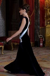 Bruni, en la recepción de Palacio. | Efe