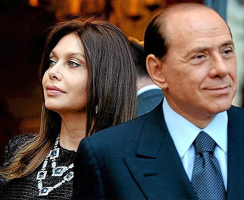 Veronica Lario y Silvio Berlusconi. | Ap