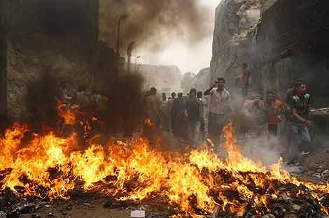 Protestas cerca de El Cairo. | Reuters