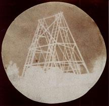 Fotografía histórica del gran telescopio de Herschel realizada por John Herschel