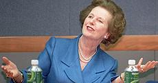 Margaret Thatcher, en Londres. | Reuters