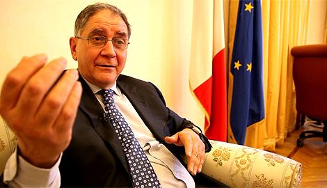 Rocco Buttiglione, durante la entrevista en Roma. | Mario Viciosa.