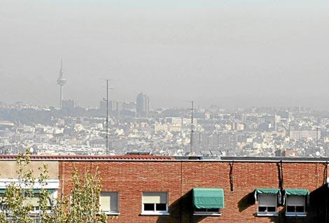 Contaminación sobre la ciudad de Madrid, en noviembre del año pasado. / Kike Para