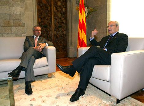 José Blanco y José Montilla, durante la reuníon. | Domènec Umbert
