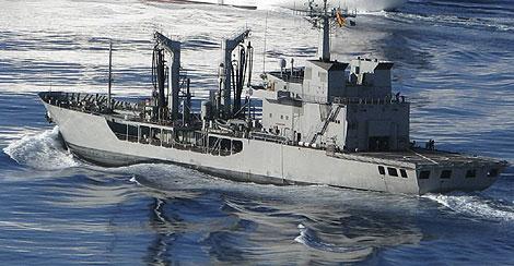 El buque español 'Marqués de la Ensenada'. | Efe