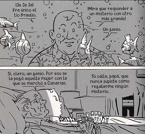Dos viñetas del álbum 'Burbujas' | Daniel Torres