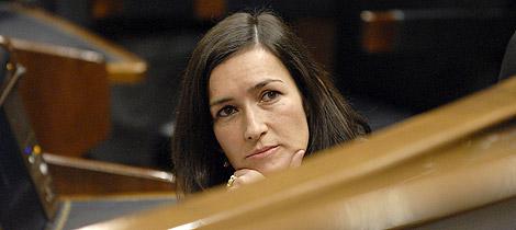 Ángeles González Sinde, en el Congreso de los Diputados. | Foto: Bernardo Díaz