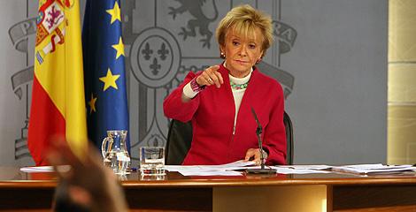 De la Vega, durante una rueda de prensa posterior al Consejo de Ministros. (Foto: José Áyma)