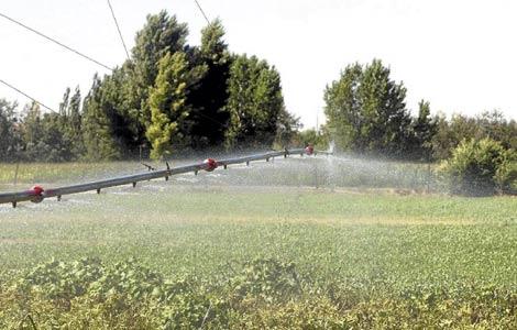 Sistema de riego en una finca de regadío en la provincia de Valladolid. | El Mundo