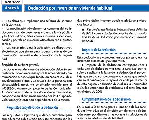 Anexo de la Declaración de IRPF que dependerá de los ingresos del declarante a partir de 2011.