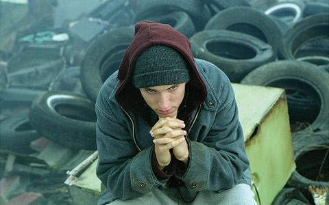 El cantante, en un fotograma de la película '8 millas'. | El Mundo