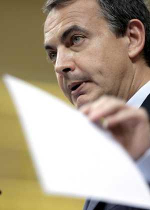 Zapatero, durante su intervención en el debate, el pasado martes (Foto: Juanjo Martín)