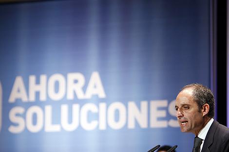 Francisco Camps, durante su intervención en el Palau de la Música. | Vicent Bosch