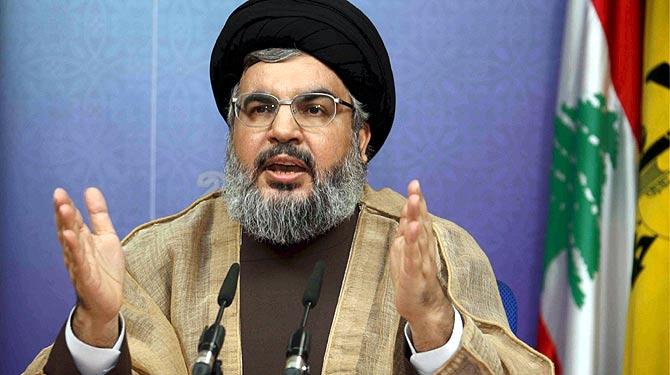 El líder de Hizbulá pronuncia un discurso durante un acto académico celebrado en Roueiss (Beirut). | Efe