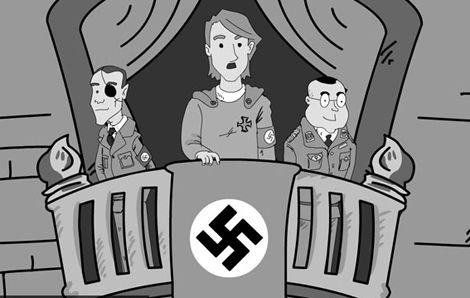Cómic sobre Hitler 'Hitler enamorado'.