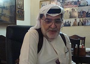 El sheikh Amir Hamid al Azawi, responsable del Comité de Apoyo de Adhamiya. | M. G. P.