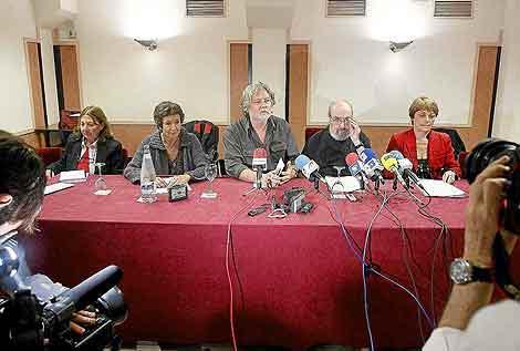 Los candidatos de II-SP durante su presentación en San Sebastián el pasado 10 de mayo. | Efe