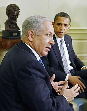 Netanyahu, con Obama en la Casa Blanca (Foto: Reuters).