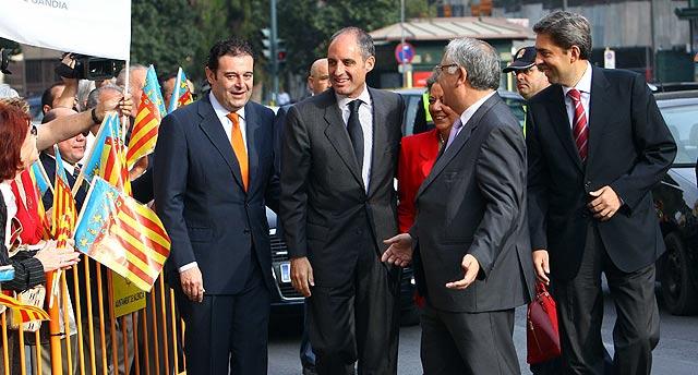 Francisco Camps llega al TSJ de Valencia junto a Gerardo Camps, Rita Barberá, Juan Cotino y Vicente Rambla. | Vicent Bosch