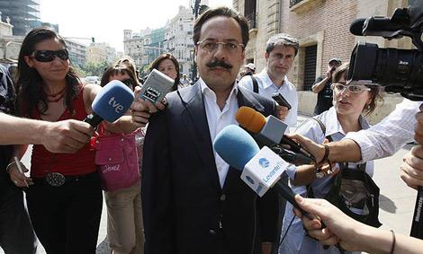 Álvaro Pérez, a su llegada al Tribunal Superior de Justicia de Valencia. | Benito Pajares