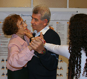 Una pareja bailando un tango. (Foto: Alejandro Cherep.)