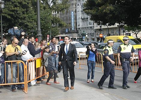 José Tomás a su llegada al TSJ valenciano | José Cuéllar