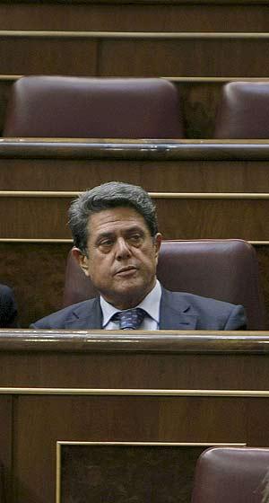 Federico Trillo, en el Congreso (Foto: Efe).