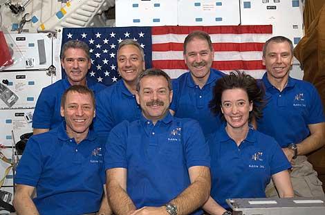 La tripulación del transbordador estadounidense Atlantis. | NASA