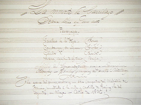 Una de las partes del manuscrito de Chapí. | R. L