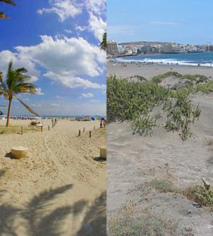 Playas de Miami y de Tenerife.   EL MUNDO