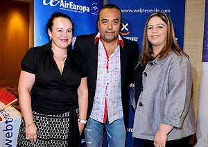 Acto de presentación del vuelo Tenerife-Miami.   Y. Lomba
