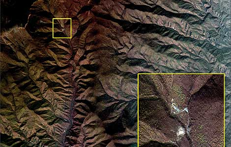 Foto de un satélite surcoreano de las pruebas nucleares realiadas por Corea del Norte en 2006. | AFP