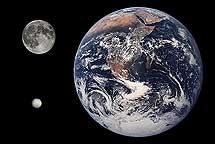 Ceres comparado con la Luna y la Tierra. | NASA