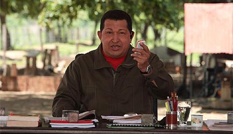 El presidente Hugo Chávez presenta 'Aló presidente'. (Foto: Efe)