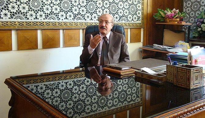 Dial Saadi, presidente de la Unión de Abogados Iraquíes, en su despacho de Bagdad. (M. G. P.)