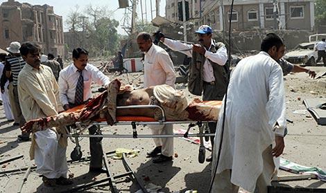 Lugar del atentado suicida en Lahore. | Afp