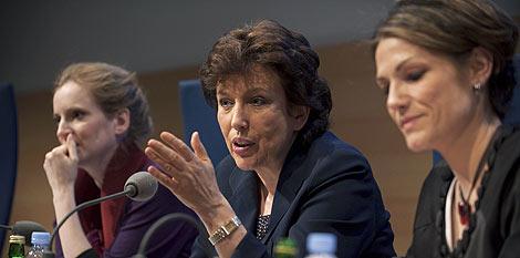La ministra de Sanidad francesa habla sobre las radiaciones.   Reuters