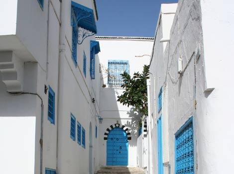 Casas encaladas en el barrio de Sidi Bou Said, en Túnez. | Kassus